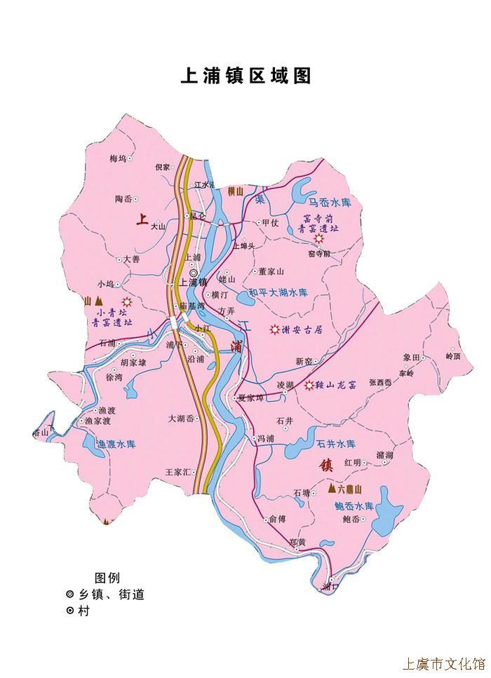 上虞东山景区地图简介